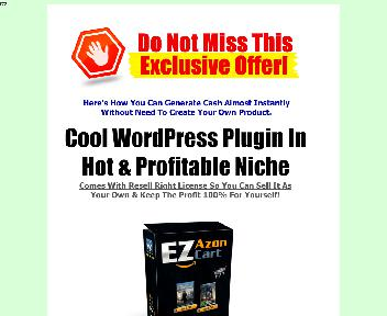 EZ Azon Cart Comes with Resale Rights Coupon Codes
