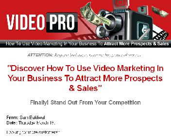 Video Pro – How To Use Video Marketing In Your Business Coupon Codes