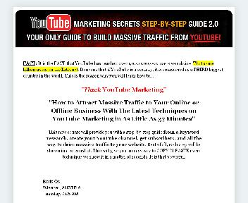 YouTube Marketing Secretes Step-By-Step Coupon Codes