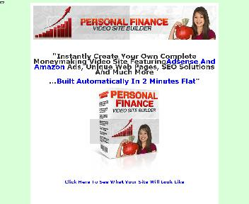 Personal  Finance Video Site Builder discount code