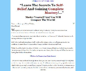 Believe In Yourself And Gain Mastery Coupon Codes