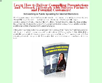 Networking & Public Speaking for Internet Marketers Coupon Codes