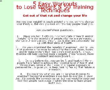 5 Easy Workouts to Lose Weight & 50 Training Techniques discount code