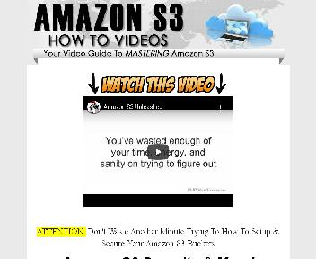 Amazon S3 Unleashed Training Videos Coupon Codes