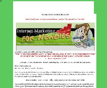 Internet Marketing For Newbies - One Time Offer discount code