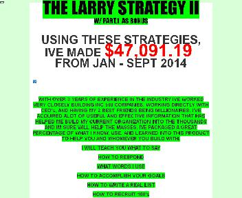 The Larry Strategy Coupon Codes