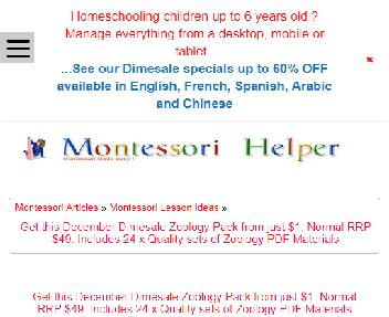 MontessoriHelper Zoology Pack Coupon Codes