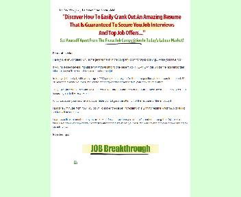 Job Breakthrough Comes with Master Resale Rights Coupon Codes