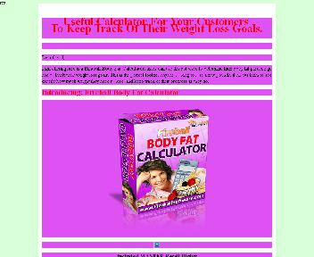 Body Fat Calculator Comes with Master Resale Rights Coupon Codes