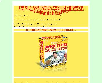 Weight Loss Calculator Comes with Master Resale Rights discount code