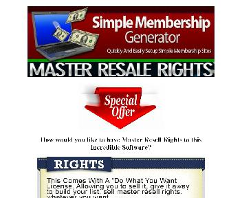 Simple Membership Generator Master Resell Licence Coupon Codes