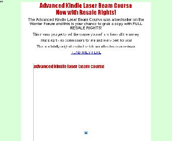 The Advanced Kindle Laser Beam Course Coupon Codes