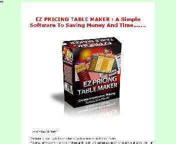 EZ Pricing Table Maker Coupon Codes