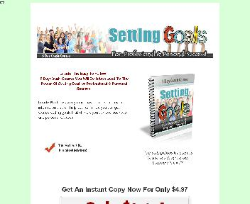 Setting Goals For Success Coupon Codes