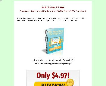PPC Advertising For Beginners Comes with Private Label Rights Coupon Codes