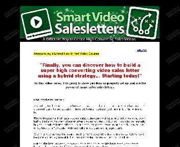 Smart Video Salesletters Coupon Codes