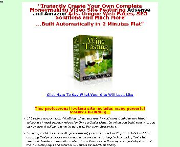 WINE TASTING VIDEO SITE BUILDER Coupon Codes