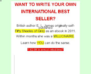 How to write your own Fifty Shades of Grey BEST SELLER Coupon Codes