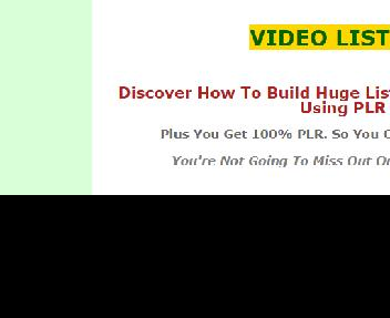 Video List Builder Comes with Private Label Rights Coupon Codes