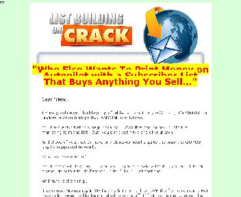 List Building On Crack Coupon Codes
