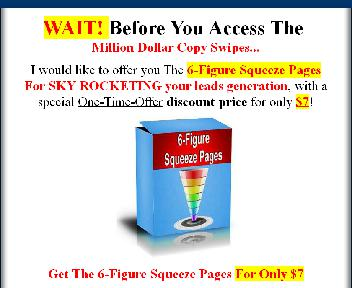 OTO 6-Figure Squeeze Pages Coupon Codes