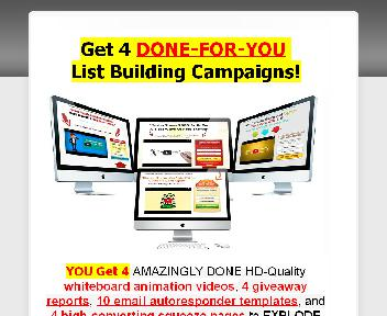 Done-For-You List Building Campaigns Coupon Codes
