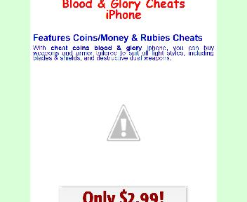 Blood & Glory Cheats iPhone Coupon Codes