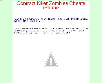 Contract Killer Zombies Cheats iPhone Coupon Codes