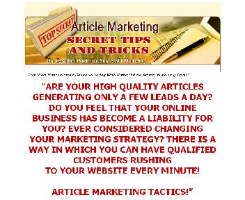 Article Marketing Secret Tips and win $3000 every week Coupon Codes