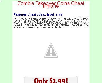Zombie Takeover Coins Cheat iPhone Coupon Codes