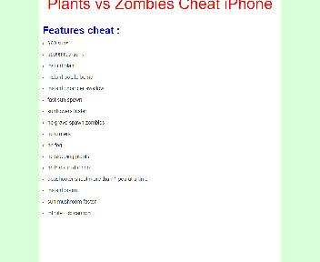 Plants vs Zombies Cheat iPhone Coupon Codes