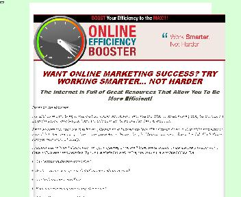 Online Efficiency Booster Coupon Codes