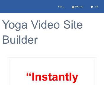 Yoga Video Site Builder Coupon Codes