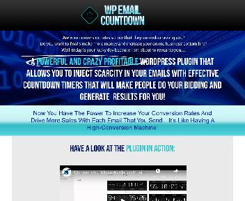 WordPress eMail Countdown Timer Coupon Codes