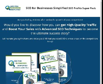 SEO for Businesses Simplified SEO Profits Super Pack Coupon Codes