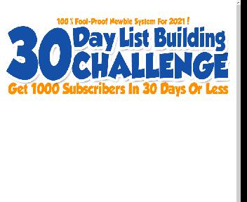 30 Day List Building Challenge Coupon Codes