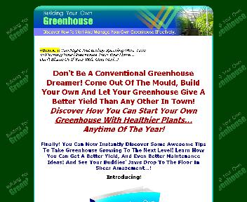 Building Your Own Greenhouse Coupon Codes