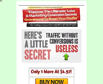 Marketing Conversion Secrets  Comes with Resale Rights Coupon Codes