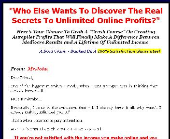 Unlimited Profits and Traffic Coupon Codes