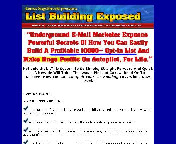 LIST BUILDING EXPOSED Coupon Codes