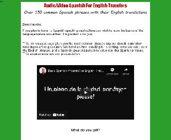 Audio/Video Spanish For English Travelers Coupon Codes