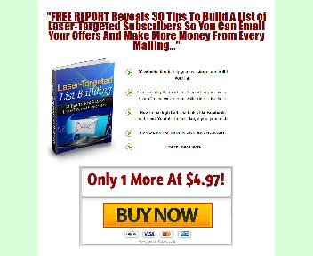 Laser Targeted List Building Coupon Codes