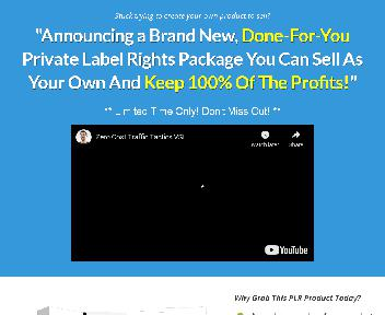 Zero-Cost Traffic Tactics - Done-For-You PLR Package discount code