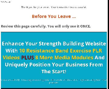 Resistance Band Strength Training Videos PLR Coupon Codes