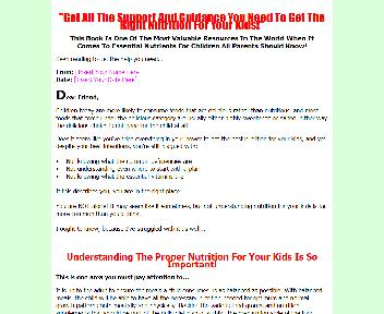 Nutrition For Kids Coupon Codes