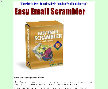 Easy Email Scrambler Comes with Master Resale Rights Coupon Codes