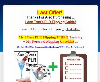 2016324 Upsell Leon's PLR Flipping VIDEO Coupon Codes
