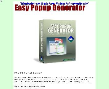 Easy Popup Generator Coupon Codes