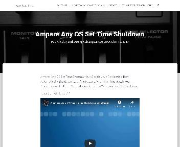 Ampare Any OS Set Time Shutdown Coupon Codes