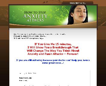 How To Stop Anxiety Attacks Coupon Codes
